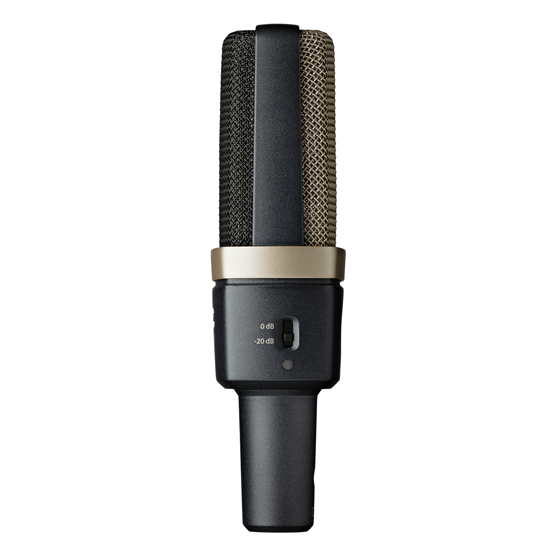 C314 - Black - Professional multi-pattern condenser microphone - Left