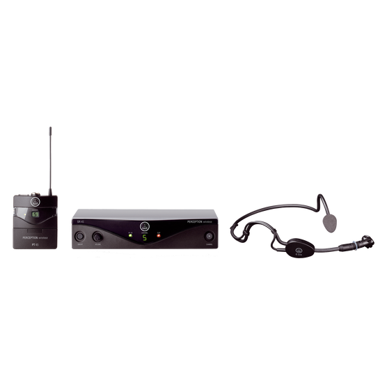 Perception Wireless 45 Sports Set Band-C1 - Black - High-performance wireless microphone system - Hero