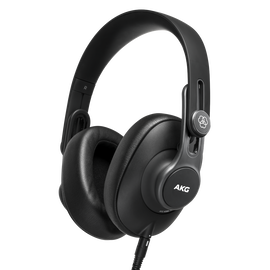 K361 - Black - Over-ear, closed-back, foldable studio headphones - Hero