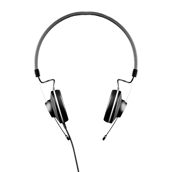 K15 - Black - High-performance conference headphones - Front