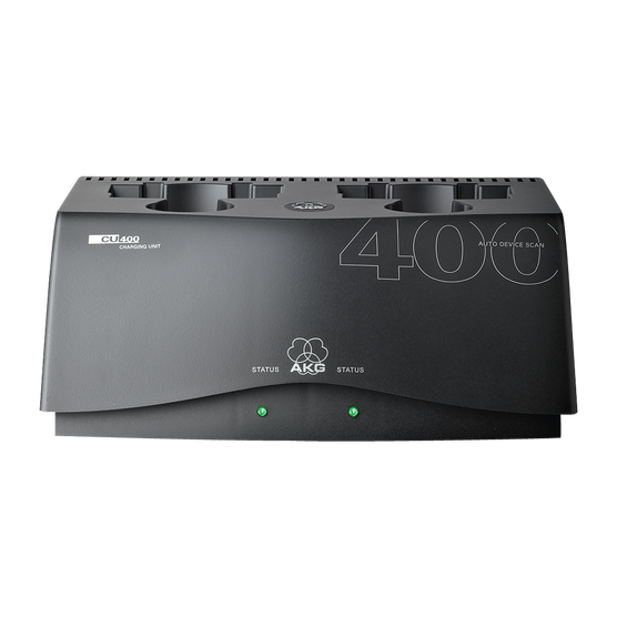 CU400 - Black - Charging unit for WMS420, WMS450 and WMS470 series transmitters - Hero