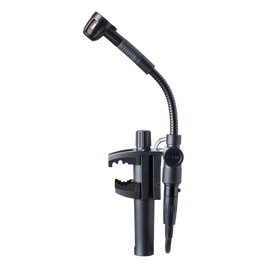 C518 M - Black - Professional miniature clamp-on condenser microphone with mini XLR to standard XLR cable - Hero