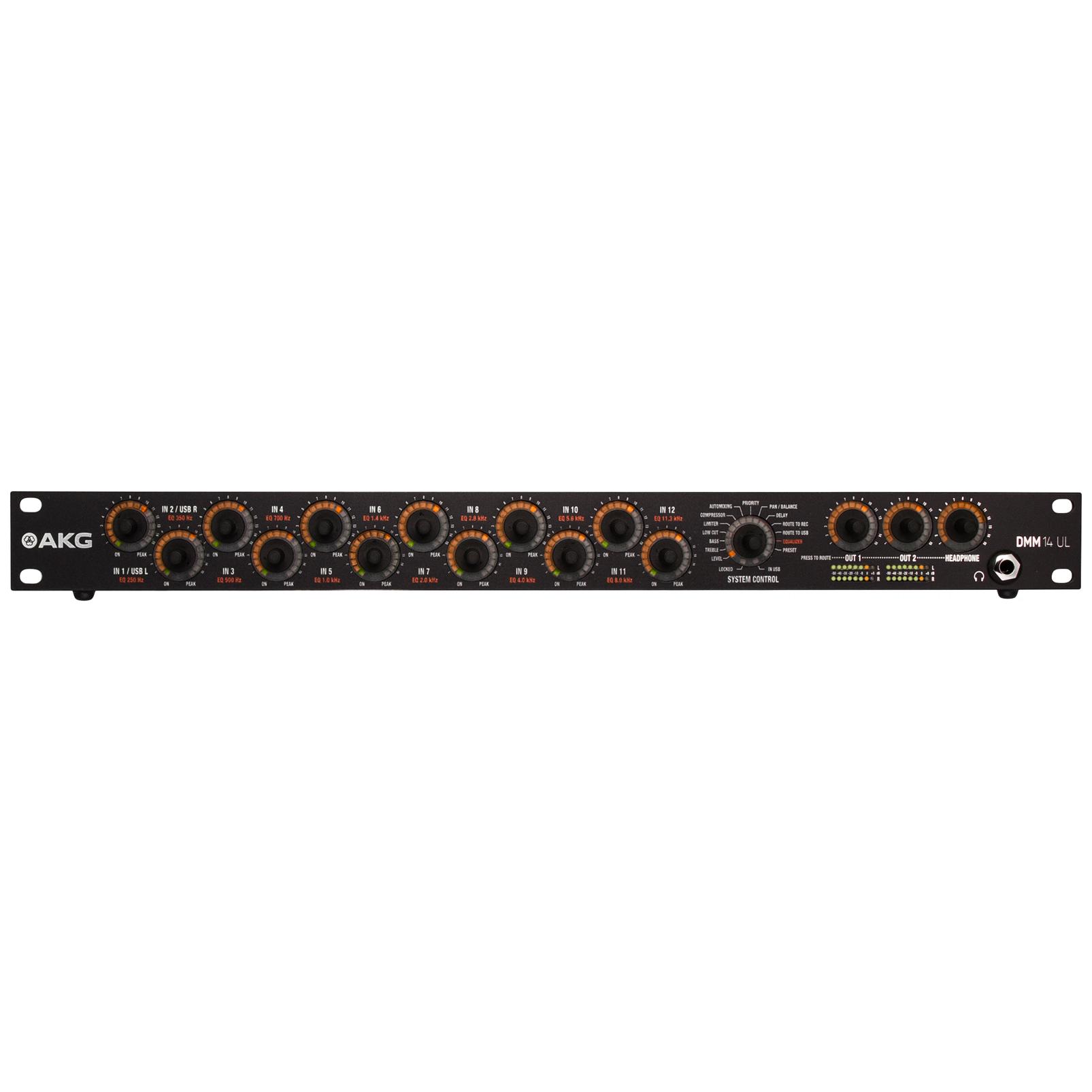 DMM14 UL - Black - Reference digital automatic microphone mixer w/LAN interface via Ethernet - Hero