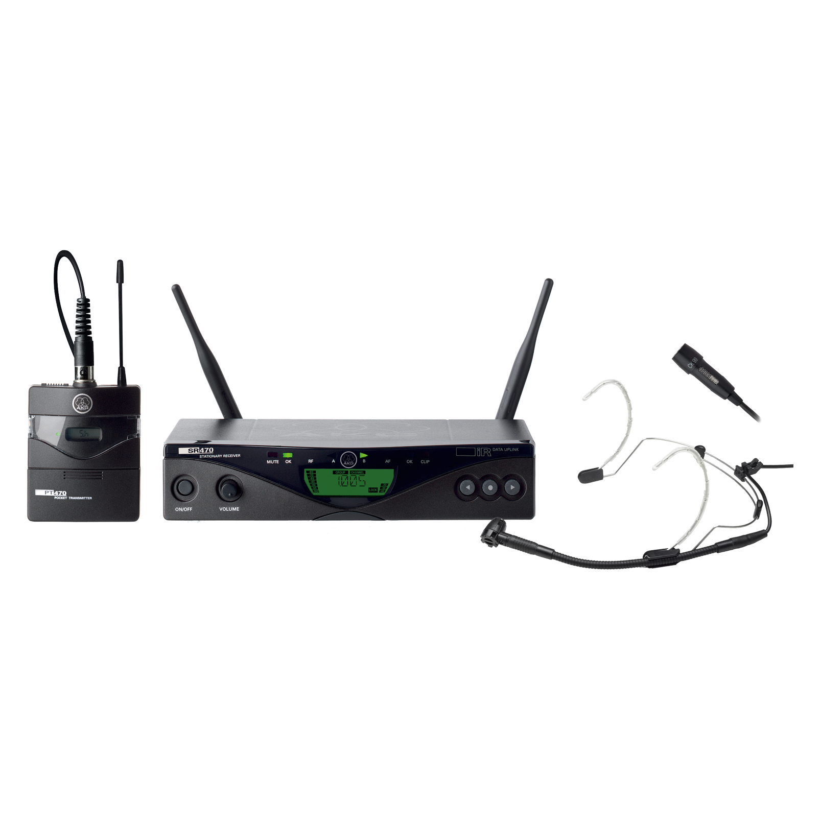 WMS470 Presenter Set - Black - Professional wireless microphone system - Hero