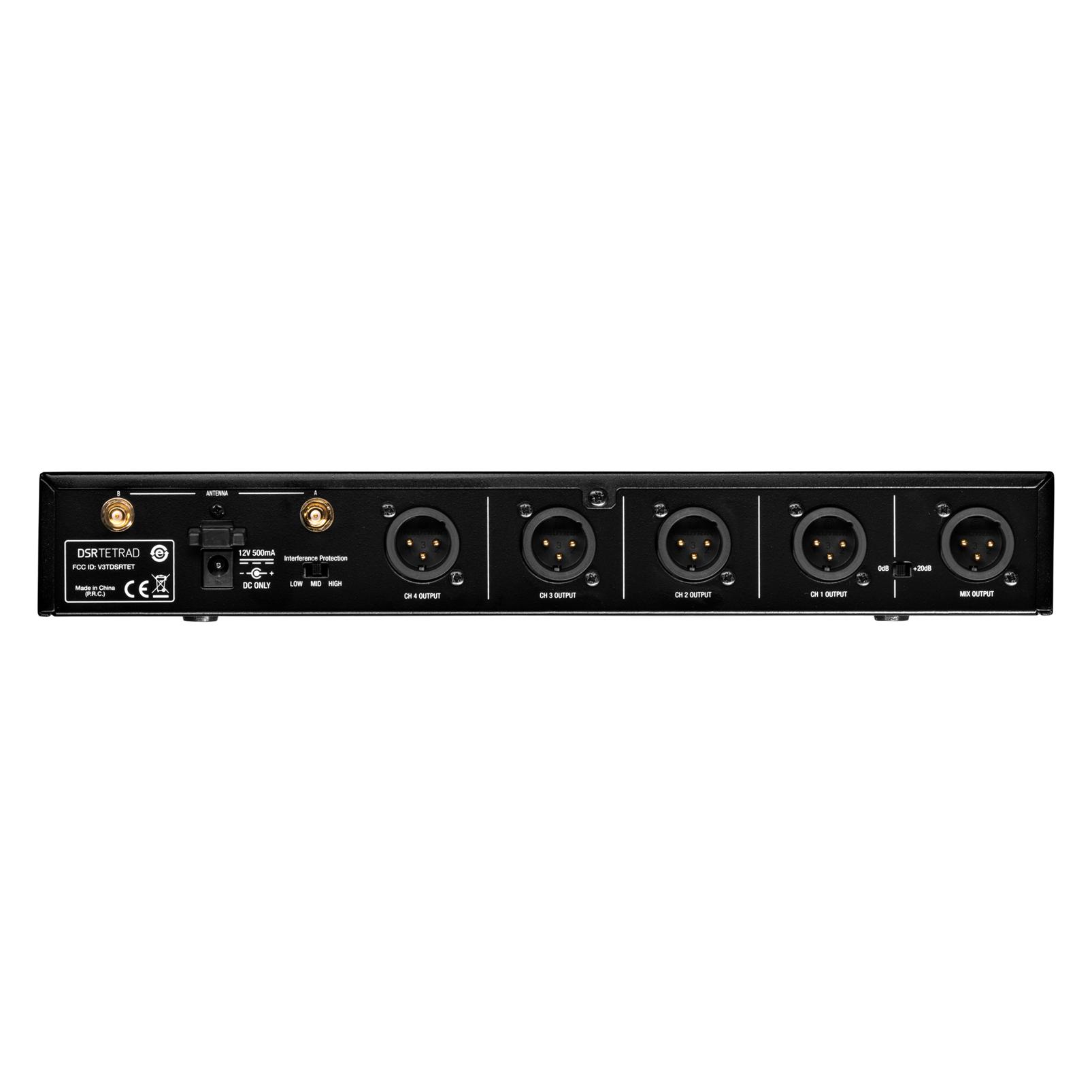 DSRTETRAD (EU) - Black - Reference digital wireless multichannel receiver - Back