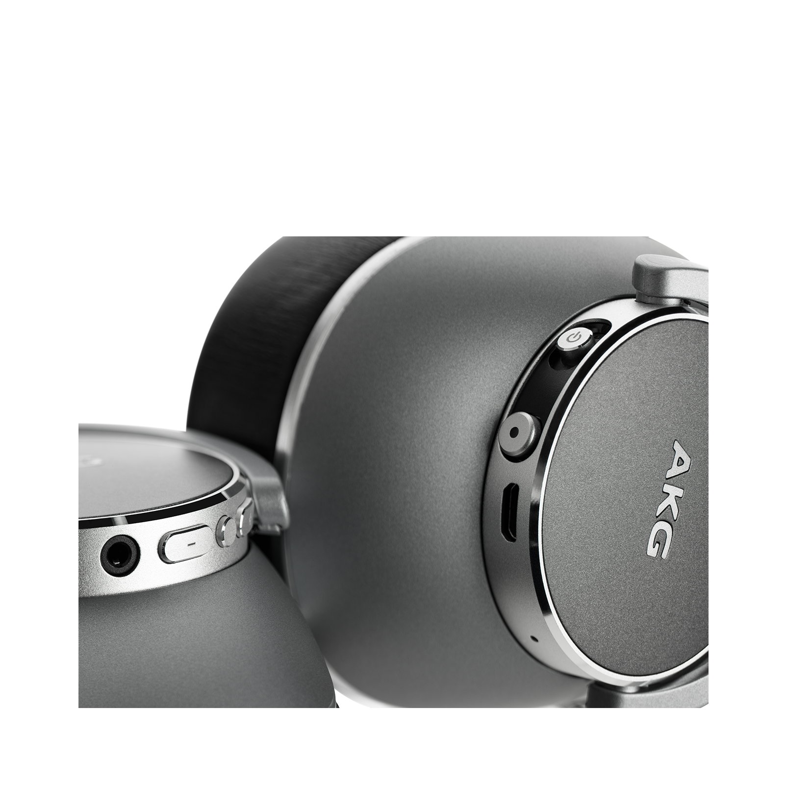 AKG N700NC Wireless - Silver - Wireless, Adaptive Noise Cancelling Headphones - Detailshot 2