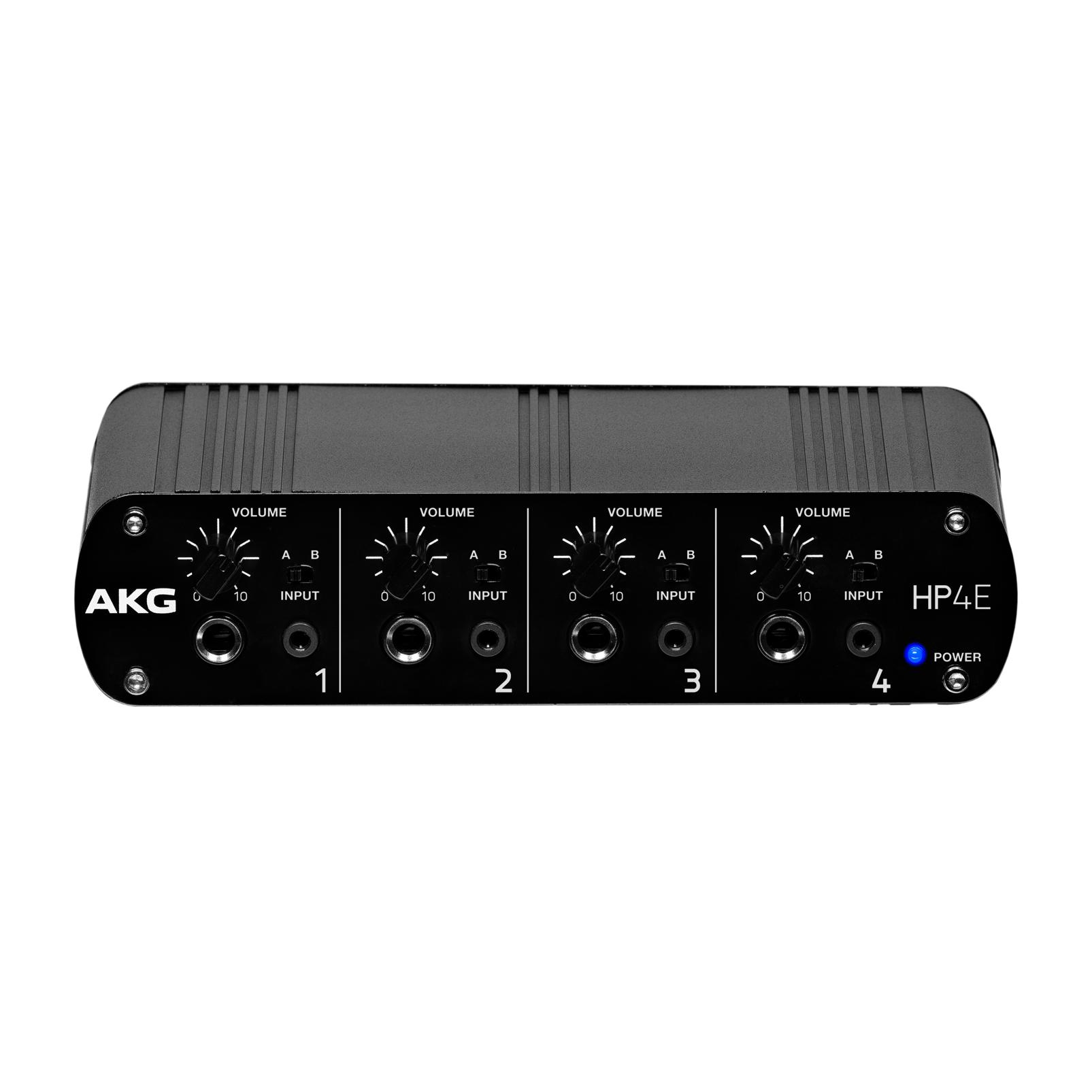 HP4E - Black - 4-channel headphone amplifier - Hero