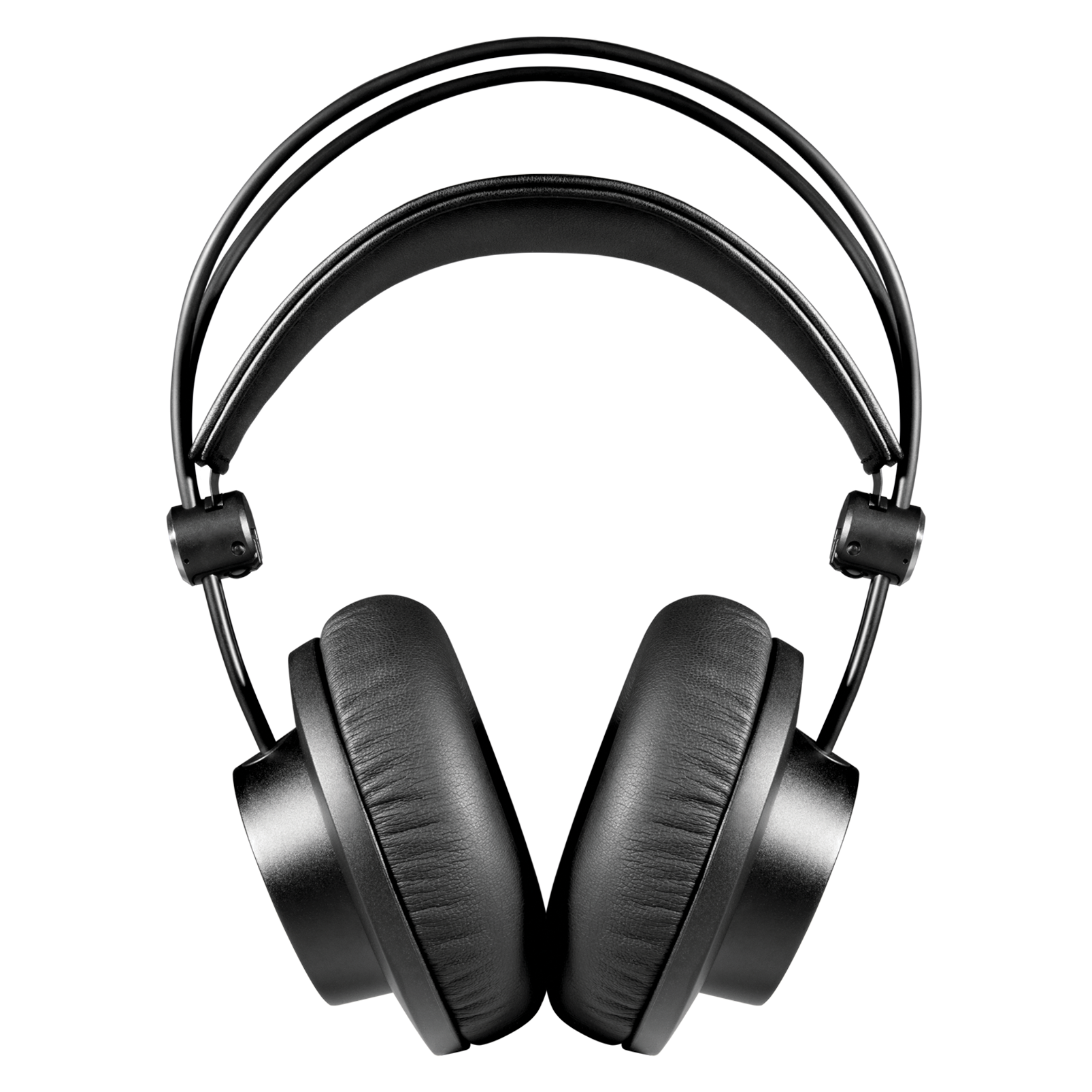 K245 - Black - Over-ear, open-back, foldable studio headphones - Front