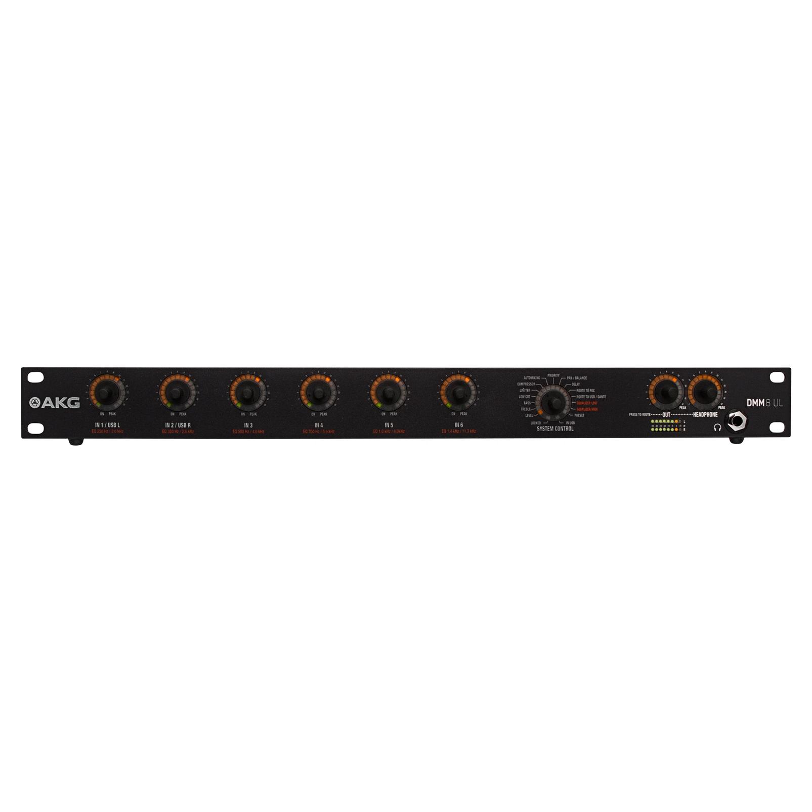 DMM8 UL - Black - Professional digital automatic microphone mixer w/LAN interface via Ethernet - Hero