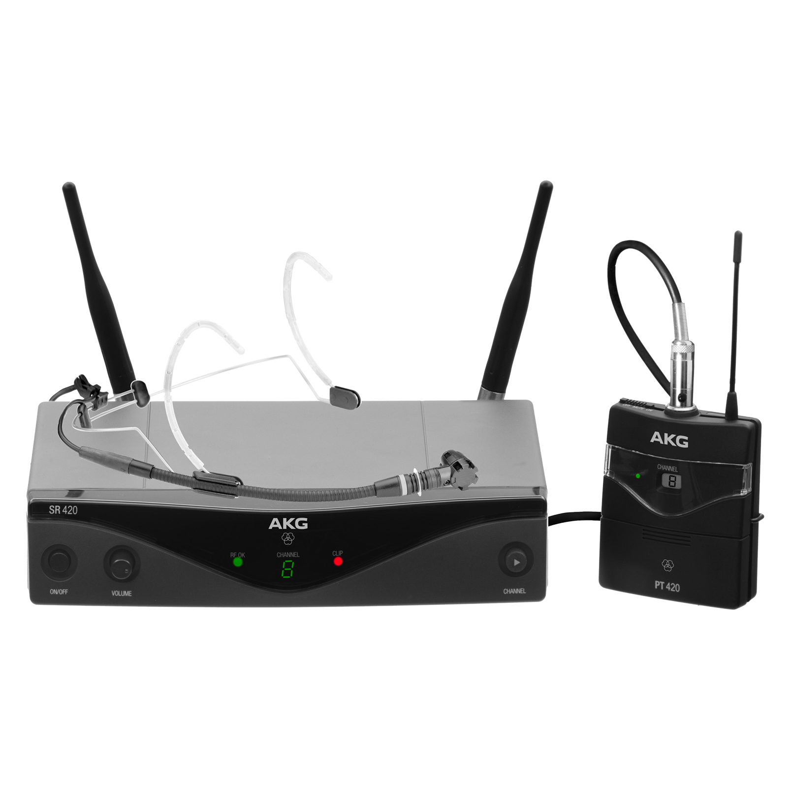 WMS420 Headworn Set Band-A - Black - Professional wireless microphone system - Hero