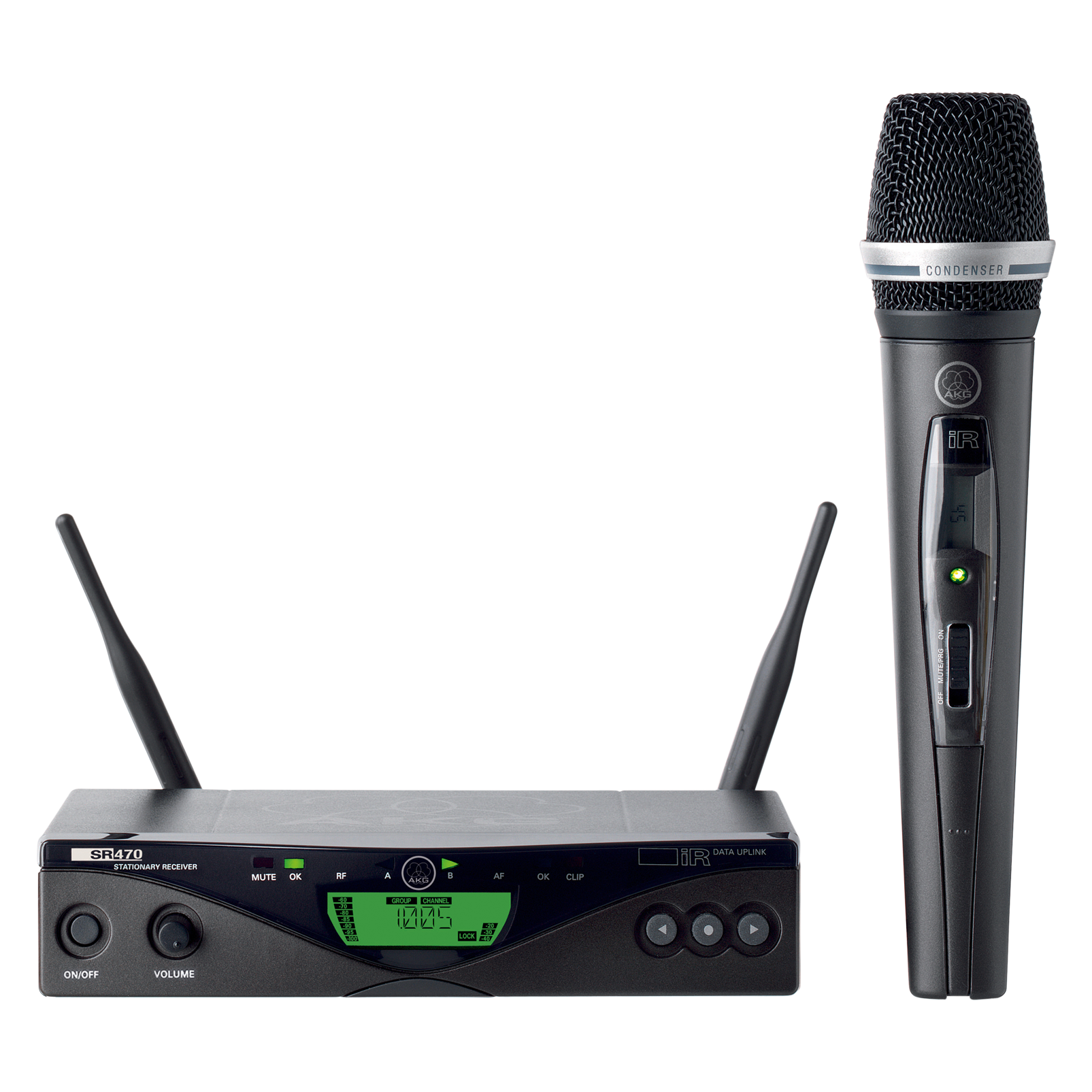 WMS470 Vocal Set C5 - Black - Professional wireless microphone system - Hero